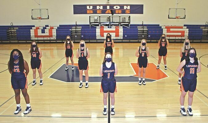 The 2020-21 Union Lady Bears. PHOTO BY LACIE HOLMES