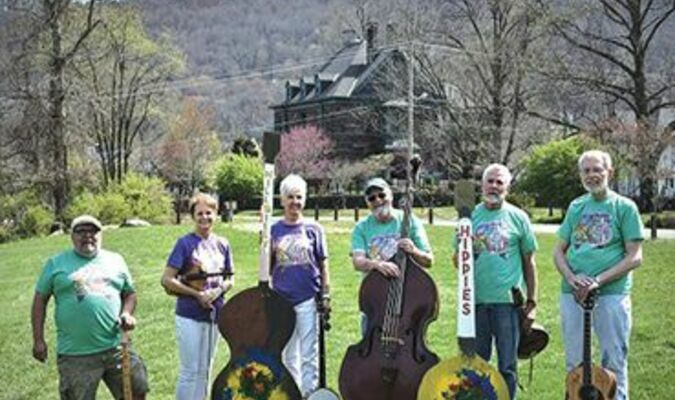 The HILLBILLY HIPPIES band members are Dawn Bays, Mary Lou Carter, Roger Bays, Larry Mullins, Les Bailey and Joey O'Quinn