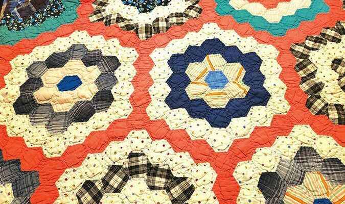 This is an image of a quilt made for my niece Catherine, the first of my Mother's grandchildren.