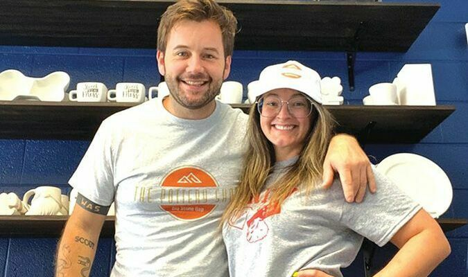 Big Stone Gap Pottery Shop LLC owner Stephen Murray and Wendy Dillon-Murray.  VCEDA PHOTO