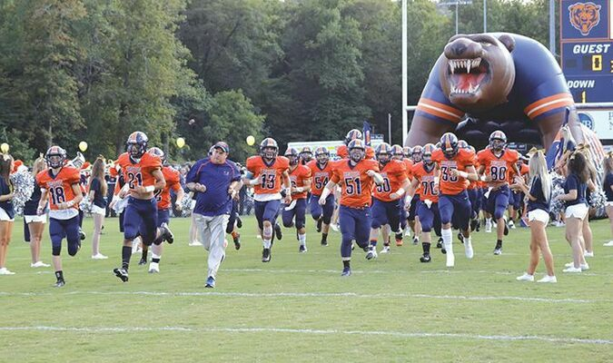 The Union football team takes the field! PHOTO BY ROBERT RYAN