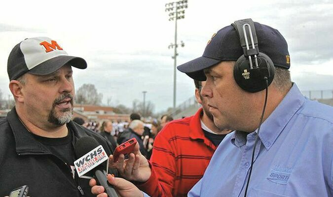 Chris Lawrence interviews Dave Walker, football coach for Martinsburg High School.  PROVIDED BY CHRIS LAWRENCE
