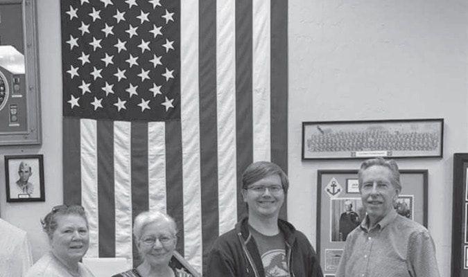 (L-R)Treasurer Mary Lingle, Secretary Berniece Burson, Vice President James Peterson, and President Jim Philp Photo by Linda Baggett