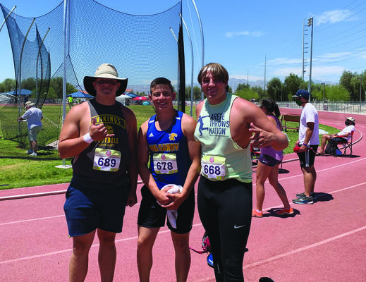 Michael (Center) pictured with fellow elite athletes at the West Coast AAU Junior Olympics. Photo courtesy of Mike Jitjaeng.