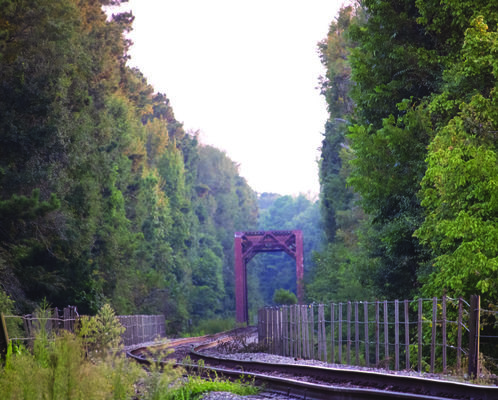 Sabine River Railroad Bridge ( beside the 155).  Photo by Theresa Olson.