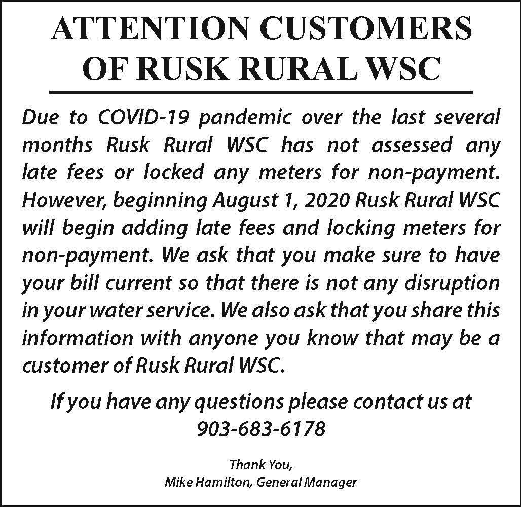 Rusk Rural WSC
