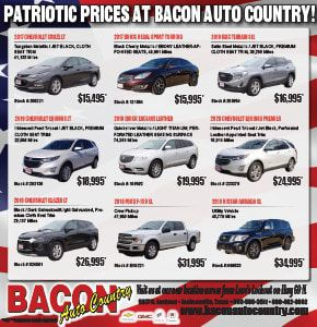 Patriot Prices At Bacon Auto Country
