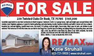 Opportunity To Own New Construction in Rusk