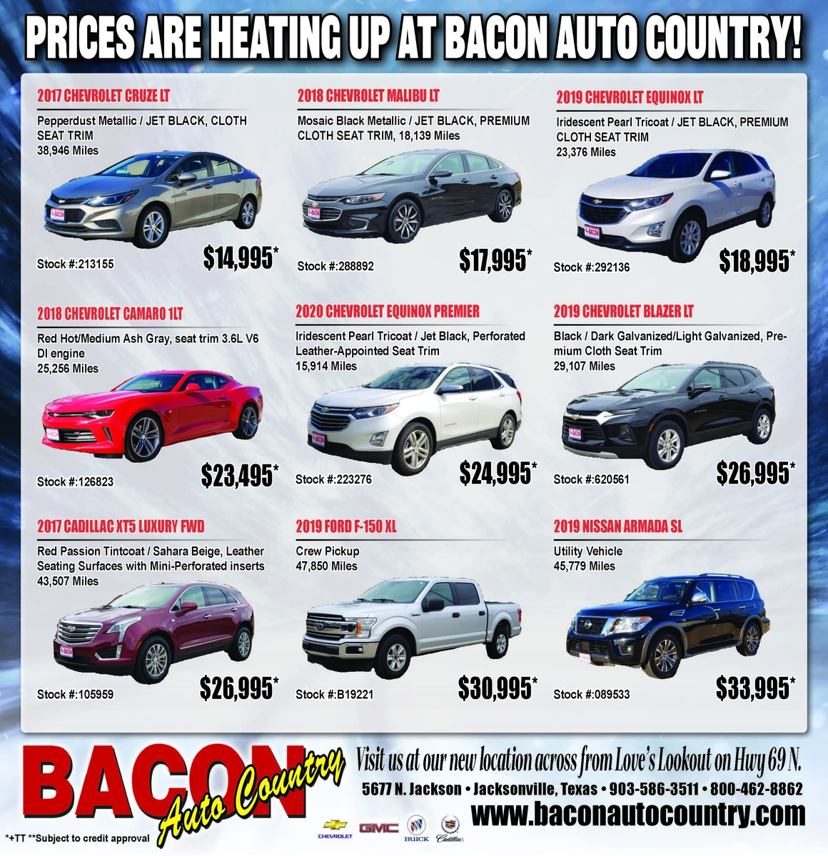 Deals Are Heating Up At Bacon Auto Country