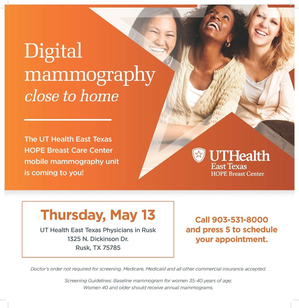 Digital mammography close to home