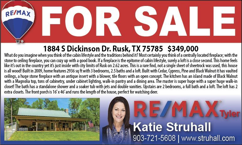 Beautiful House In Rusk Just Listed