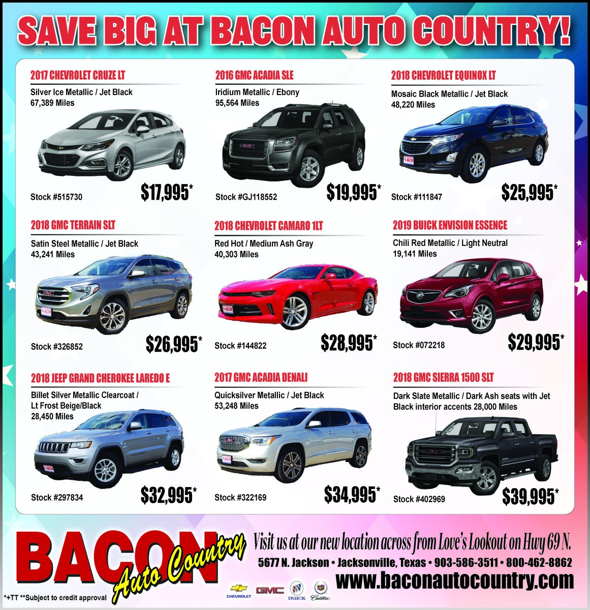 Save Big At Bacon Auto Country