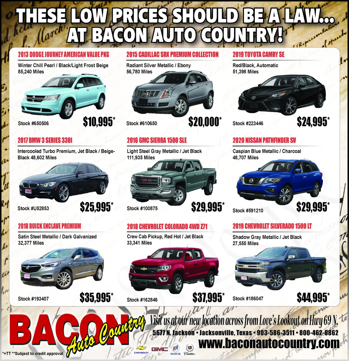 Prices So Low It Should Be The Law