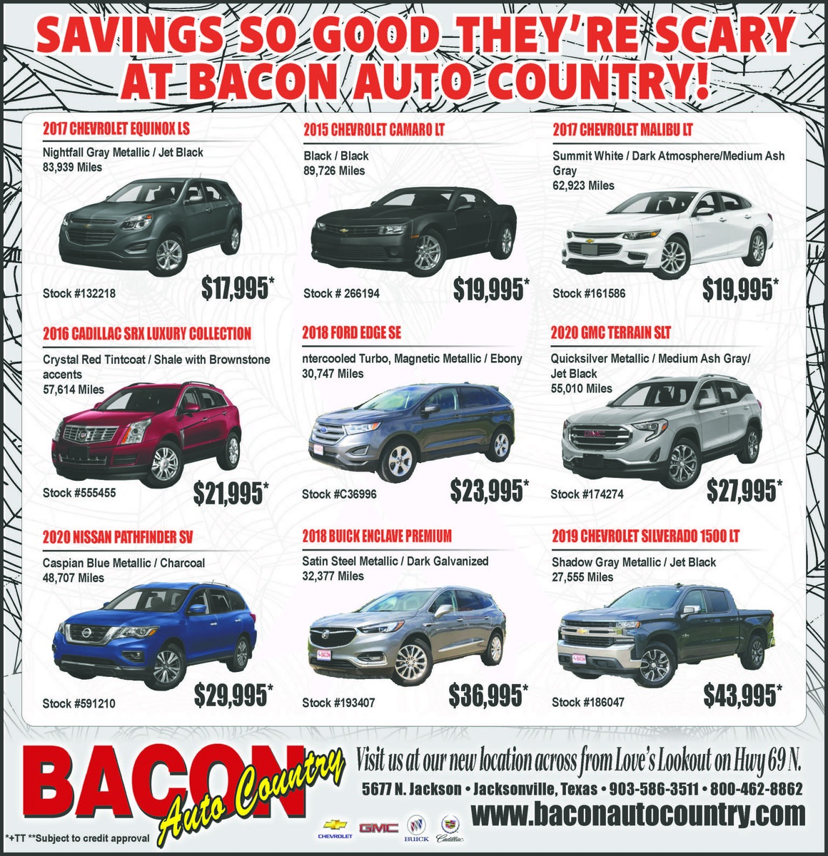 Scary Savings at Bacon Auto Country