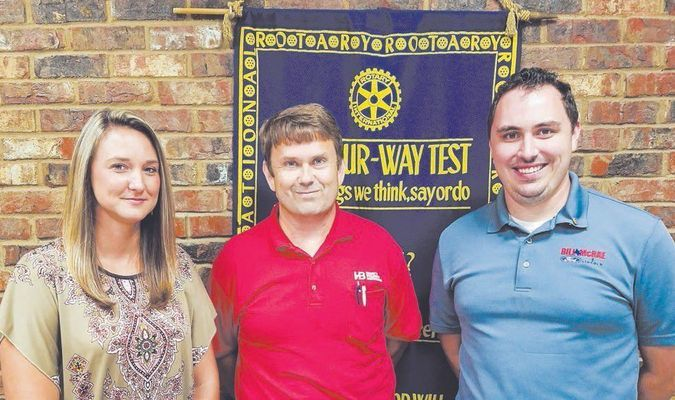 The Rotary Club of Rusk welcomes new member Steven Yates. He was sponsored by Larry Sinclair. From the left are Club President Jaleea Hudnall, Club Membership Chairman Robby Tosh and Mr. Yates.