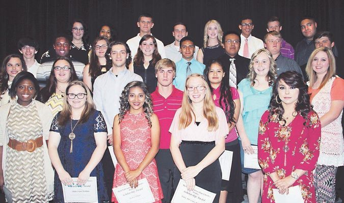 During the 2016 Rusk High School Scholarship Banquet, the 2016 Rusk/ TJC Promise Fund recipients were recognized. A total of 35 students from the class of 2016 are scheduled to attend TJC to start their college career. Under the program, Rusk students who graduate within the top half of their class with a minimum 2.5 GPA who reside in the Rusk ISD and attended Rusk High School their junior and senior years receive $4,000 per year for two years at TJC.