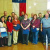 County employees received Service Awards at Monday's Cherokee County Commissioners Court. Employees receiving five year awards:  Billie J. Davis, Marlana P. Davis, Tracy M. Dement, Brent E. Dickson, Kay Hamilton, Rocio Helm, Ronald W. Kimbrough, Omar Marroguin and Rebecca R. Netherland. Ten years:  Blanca E. Harris and Ricky R. Moore. Fifteen years:  Beth A. Davis and Lois A. Garner. Twenty years:  L.H. Crockett. Twenty-five years:  Michael C. Lindsey and David B. Womack. Also pictured are County Judge Chris Davis and Commissioners Byron Underwood, Kelly Traylor, Steven Norton and Patrick Reagan.