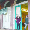 Photo: Becky Whisenant Jitney Cafe owner Fantasi Durrenberger (left) stands at the entrance with her son, Dakota, 13. The Jitney Cafe, located in Dialville, will host a special event for Valentine's Day from 7-9 p.m. Feb. 11 with live music by Tommy Dement and The Music Makers.
