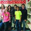 8th Grade Citizenship Winners are from the left Madison Stanford, Evelyn Truelock, Lane Gilchrest, Camdon Hudnall, Baileigh Barrera and Andre Caesar.