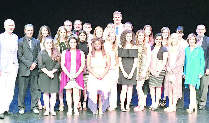 The Perkins Family and TJC president Dr. Mike Metke honored the second class of Rusk TJC Citizens Promise students during a ceremony May 9 at TJC's Jean Browne Theatre and Courtyard. A total of 20 students were recognized; seven graduated from TJC last week.