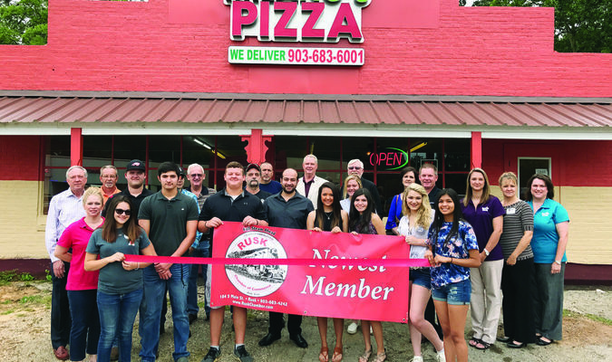 The Rusk Chamber of Commerce recently welcomed new member Milano's Pizza. Milano's serves pizza, pasta, subs, salads, wings and more. The restaurant also offers a daily buffet from 11 a.m. -2 p.m for $5.99. Delivery may be made within a 12-mile radius of Rusk. Orders may be called in at (903)683-6001.
