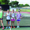 Girls 12 and Under:  Cassie Rexroat, Sophie Miller, Isabella Miller and Kristen Bettencourtin.