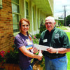 Ally Bernard is presented a check by Robert Selman of the Master Gardeners Association. Ally will attend Angelina College in Lufkin where she will major in animal science.  She is the daughter of Jennifer Bernard of Alto.