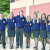 The 2016-17 Alto FFA officers are, from left, vice-president Corbin Threadgill, secretary Presley Griffith, reporter Ryan Griffith, president Samantha Morris, 2nd vice-president Annie Cox, sentinel Abby Bernard and Kaylee Chometa.