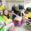 Thespians 'N Training (TNT) counselor Luke Williams instructs, from left, Terrius Aldridge, Alexis Aldredge and Clair Kesler on using power tools. The annual TNT grand finale showcases will be held Saturday, July 29 at the Cherokee Civic Theatre, 157 W. 5th St. in Rusk. For more information, call (903) 683-2131.