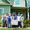 The Rusk Area Garden Club has chosen the yard of Shana and Ken Ferrara at 182 CR 1331 as its July Yard of the Month. Pictured from the left are Waldine Walker, Martha Neeley, Linn Landis, Maxine Pierce, Shana Ferrara, Caleb Ferrara, Elizabeth Holcomb and Dorothy Graham.