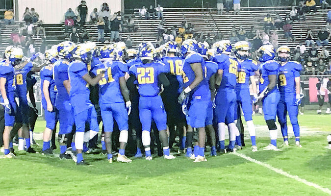 """Photo: Grace Traylor, Jacksonville ISD With a motto of """"leave no doubt,"""" the Jacksonville Fightin' Indians have started the 2017 football season with a 4-1 record with wins over Pine Tree, Mount Pleasant, Hallsville and Alvarado. Jacksonville will open district Friday at Corsicana (3-2)."""