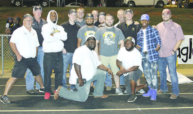 Photo: Beverly Milner Alto High School recognized the 2007 Class 2A State Championship Yellowjackets during halftime of the Jackets' game against Rusk Sept. 29. The '07 Jackets won their second consecutive state championship and closed their second undefeated season with a 22-0 win over Seymour in Midlothian.