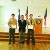 Trevor and Tristen Goodwin from Bullard attended the ceremony and they are pictured with Congressman Hensarling.