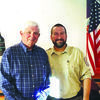 At the Jacksonville Rotary Club meeting on Oct. 4, rotarian, Michael Banks (left) hosted Leo Gustafson, Manager of the US Fish and Wildlife Service's Neches River National Wildlife Refuge. The Neches River NWR was established in 2006 and contains approximatey 6,500 acres of hardwood bottomlands, mostly in Cherokee County. The refuge is focused on maintaining and protecting critical wildlife habitat along the Neches River for migratory birds and other bottomland wildlife and plant species.