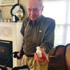 """Wilson Welch shows off his miniature snowman built during last week's freeze. The residents of Angelina House got together to create miniature snowmen during the cold spells. """"The residents enjoyed seeing making some of Texas' smallest snowmen,"""" said Edith Fudge of Angelina House. """"Sometimes, it's the smallest things that can bring the biggest smiles."""""""