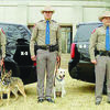 The new dogs and their duty stations pictured from the left are Netti (Dumas); Kelsey (San Antonio); and Loko (San Angelo).