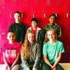 6th Grade, 2nd Quarter Citizenship Winners. Top Row: Kevlynn Ford, Francisco Martinez and Ray Brummett. Bottom Row: Mariana Morin, Kaitlyn Hardy and Sarah Boudreaux.