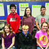 RJH 8th Grade, 2nd Quarter Citizenship Winners. Back Row: Jorryn Anderson, Mason Blalock and Zane Lofton.  Front Row: Sara Peace, Connor Thornton and Kara Wofford.