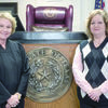 Judge Janice Stone recently received a donation from the Cherokee County Republican Women. With this donation, Judge Stone will be able to continue to provide cakes to the families of newly-adopted children that are adopted in her court throughout the year. Shown in the picture are Judge Janice Stone and Karen Morris, president of the Cherokee County Republican Women.