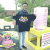 """As the 400th blood donor, TJC student Myles Perry of Cedar Hill helped TJC exceed its goal in the seventh annual """"50 Gallon Challenge.""""  Photo: TJC"""