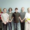 From left to right Livia Sessions, Madisyn Foster, Kennedy Foster, Noah Foster, Ella Kovacs, Laurie Gentry, and Meg Kovacs. Not pictured are John Wofford, Kara Wofford, and Sarah Wofford.