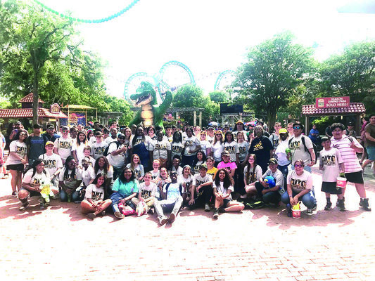 Band members, directors and chaperones enjoyed a day of fun at Fiesta Texas on Saturday following the parade