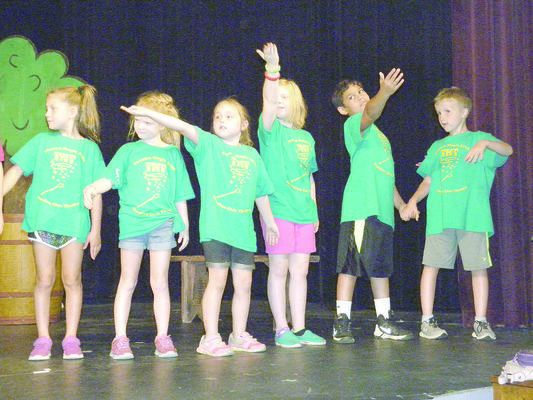 TnT campers practiced their Grand Finale Showcase. Each troupe will present the production they worked on during camp.