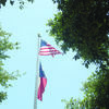 Old Glory, the nickname given to the  American flag by William  Drive,  proudly waves in the breeze above the Cherokee County Courthouse   lawn in Rusk.