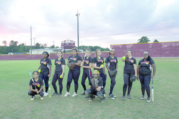 Photo by Tara Tatarski Rusk Velocity, a Girls 15U division team, placed second overall in league tournaments and will be headed to state playoff games. Team members pictured left to right are Isabel Torres, Trinity Asberry, Alli Kozlovsky, Rayla Upshaw, Trinity Crosby, Presley Griffith, Marissa Perry, Kenyada Kincade, Kaylie Stephenson and Reanna Guinn. Team coaches (not pictured) are Tara Tatarski, Chanda Perry, Armando Torres and Brian Kozlovsky.