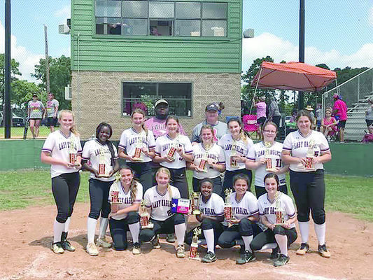 Photo shared by Texas Teenage Baseball-Softball Association via Facebook The Rusk Threat Girls 15U Division team ended their season finishing in third place after a week long tournament played in Rusk. Team members included Mia Overstreet, Raji Canady, Abbie Pepin, Callie Lynn, Kelsey White, Emma Abernathy, Faith Long, Asjia Canady, Kristen Long, Lanie Ford, Addie Emerson, Emily Etheridge, Makala Willems and Chaylee Rushing.