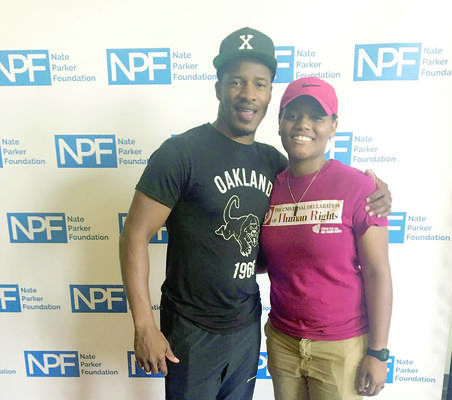 Courtesy Photo Shanelle Gaddis, 23, poses with Hollywood star, director and mentor Nate Parker, during the 2018 Summer Film Institute, sponsored by the Nate Parker Foundation in New York.