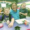 Rusk High School teacher Bettye Turney with her Bearkat grandsons during Cushing Elementary School's Grandparent Breakfast last week.