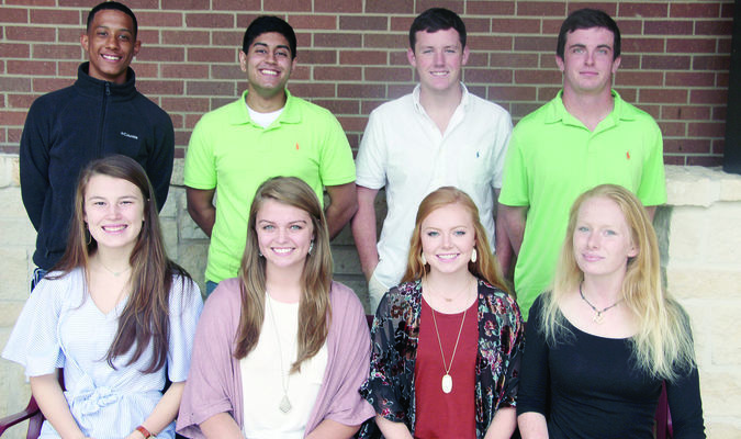Courtesy Photo Troup will celebrate their homecoming on Friday night, with pre-game activities beginning at 7 p.m. at Tiger Stadium. The homecoming court includes senior princesses on the front row, left to right, Natalie Davenport, Holly Weathers, Tayler Vance and Tatum Hunter. The senior princes are, from left to right, Quincy Kincade, Mohammad Hayat, Brayden Maris, and Jake Smelser