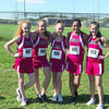 Courtesy photo Rusk Jr. High girls Cross Country team placed fourth at the District Cross Country Meet held Wednesday, Oct. 10 in Fairfield. Pictured, from left, are Kaitlyn Hardy, Shelby Gray, Hanna Allen, Isabel Torres and Madalynn Woodruff.